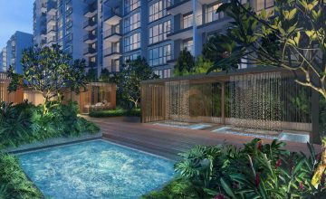 Treasure at Tampines artist Impression Spa Pool Singapore
